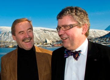 n Tromsø: Head of Research Hans Konrad Johnsen and CEO Erik Haugane. Photo: SCANPIX/www.detnor.no