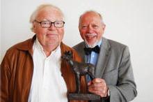 Award winners Pål Bang Hansen (left) and Per Haddal. Photo: FILM&KINO)