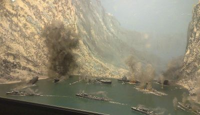 Battle in Narvik: Panorama of the fight between British and German destroyers. Photo: Wikipedia.org