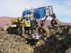 Mars rover on Svalbard. Photo: NASA