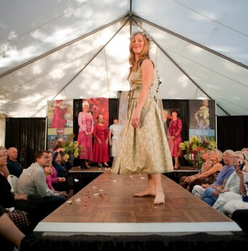 "Chalet in the Woods, based in Gig Harbor, Wash., hosted a fashion show to showcase Oleana's ""Autumn Leaves and Winter Roses"" collection. Photo courtesy of Laura Almaas."