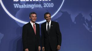 Support Obama: Prime Minister Jens Stoltenberg and U.S. President Barack Obama. FOTO: Scanpix PHOTO: Scanpix