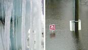 Deceived by icicles and frost? Globalt sett var vinteren den nest varmeste på 100 år, og også i mars har temperaturene økt. Globally, the winter of the second-warmest in 100 years, and in March, the temperatures increased.  -  Photo: Photo Montage: / Scanpix
