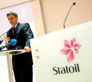 Helge Lund, chief executive of Statoil, which now has to pay 800,000 in fines. PHOTO: LISE Åserud / SCANPIX