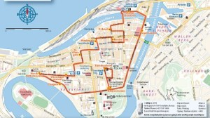This is El-bus route will go between 10 and 15 from 28 June to 27 August. Photo: Trondheim Parking