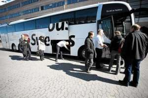 From 1 September is not possible to pay with cash on Swebus buses. (Photo: Swebus)
