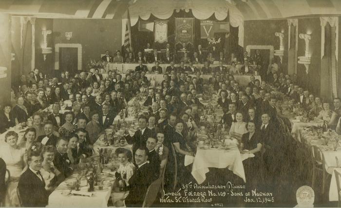 Færder Lodge's 35th anniversary celebration on Jan. 12, 1946
