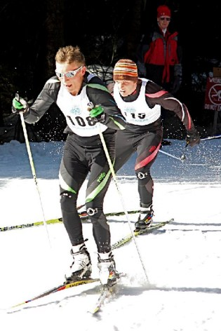 Oregon brothers Nick and Ryan St. Clair in a fight for the JOQ finish line (Photo Karen Voorhees).
