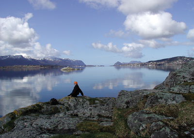 A view from Spjelkavik, looking out towards the art nouveau city of Ålesund. Photo courtesy of Else Bigton