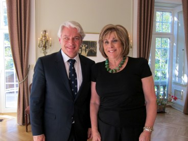 mbassador Wegger Chr. Strommen, who was unable to be present at the Kristallnacht service, hosted a private luncheon for Ms. Berman at the Royal Norwegian Embassy in Washington, D.C., on Nov. 8. Photo: Royal Norwegian Embassy