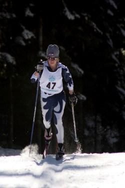 Nina Eckblad (MVNT) took first in the girls J1 10k Classic.