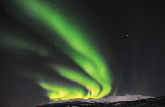 Northern Lights in Tromsø, Norway. Image courtesy of the Nordic Heritage Musuem. Photo by Rune Stoltz Bertinussen