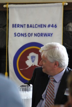 Norwegian Ambassador to the U.S. Wegger Chr. Strømmen at the Sons of Norway reception in Anchorage, Alaska, on June 26. Photo: NAW