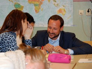 Crown Prince Haakon participated in Global Dignity Day at a school in Oslo. Photo: Liv Anette Luane, Det kongelige hoff