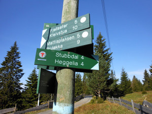 Løvlia is at the intersection of many popular trails. (Photo: JES)