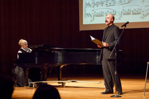 "Photo: Scott Means Bonnie and Michael Jorgensen perform Theodora Cormontan's ""Ungbirken"" (""Young Birch,"" poetry by Jørgen Moe) at Gustavus Adolphus College in St. Peter, Minnesota on February 24, 2013"
