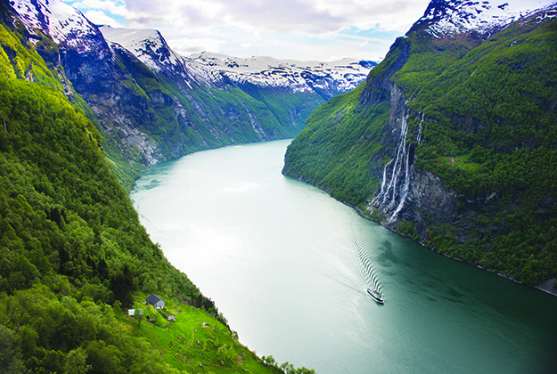 Photo: C.H. / Visitnorway.com This is a view of Geirangerfjord that you certainly will not get aboard a cruise ship!