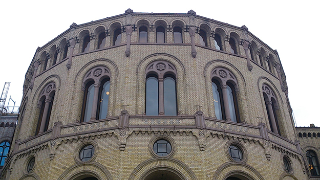 Photo: Michael Sandelson / The Foreigner The Norwegian Parliament in Oslo.