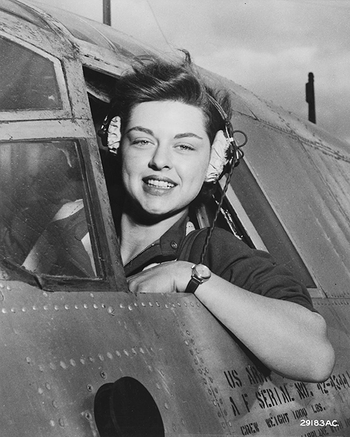 Photo: Wikimedia Commons Elizabeth L. Gardner, WASP, at the controls of a B-26 Marauder. She takes a look around before sending her plane streaking down the runway at Harlingen Army Air Field, Texas. Almost certainly this photo dates from 1942-1945, part of a project of having women pilots move aircraft on the home front to free up more male pilots for combat duty.