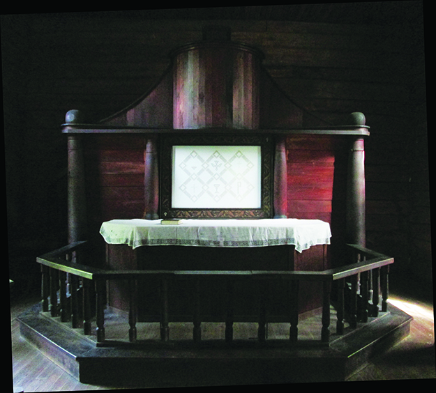 Photo: Christine Foster Meloni The altar with Hardanger parament.