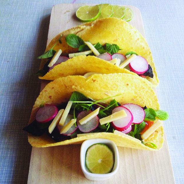 @LandmarkBergen: #FredagsTaco ala #Landmark: Portobello-taco med trøffel-aioli and karamellisert løk.