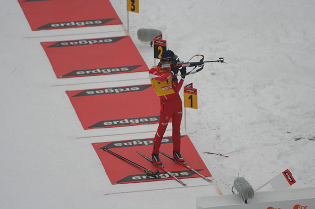 Photo: Glawster / Wikimedia Commons  If Bjørndalen is to continue competing in biathlon he'll need to work on his scores shooting while standing.