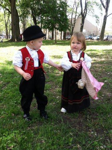 Photo: Christine B. Rasmussen  Young Norwegian-Americans celebrate Syttende Mai in New York.
