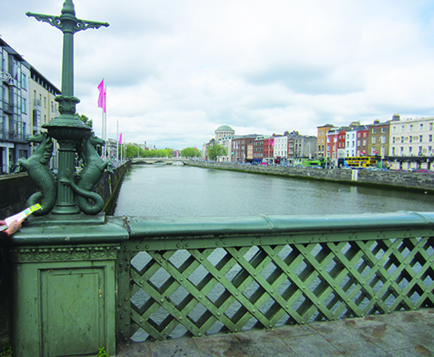 Photo: Thor A. Larsen Dublin's Liffey River, with the first Viking settlement in the distance on the left.