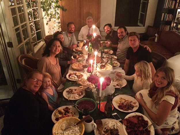 Photo: Lars Wanberg Larrie's family celebrates the first of two Thanksgivings this year.