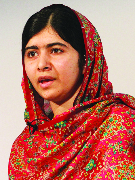 Photo: Russell Watkins / Department for International Development / Wikimedia  Malala Yousafzai.