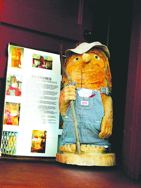 Photo: Britt Wanberg Ole the Troll looking sharp in overalls.