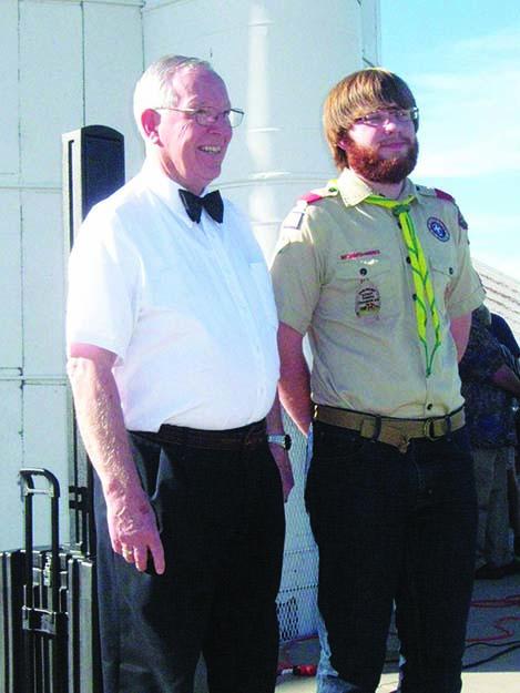 Photos: Bill Solum Einar celebrating his acheivement as as Eagle Scout.