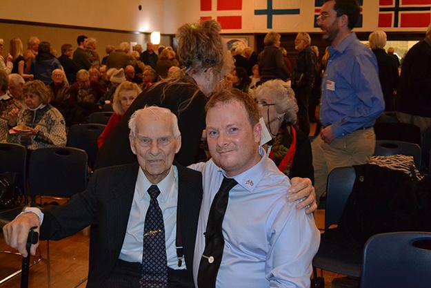 Photos: Courtney De Villa-Rose Knut Einarsen with Åge Johnny Nabben Olsen.