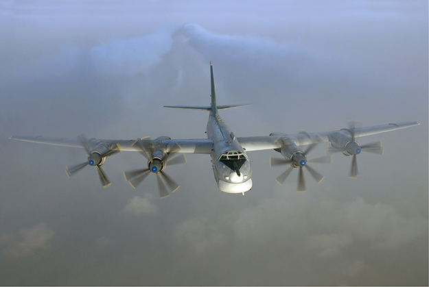 Photo: Sergey Krivchikov / Russian AviaPhoto Team / Wikimedia Commons This type of aircraft, a Russian Air Force Tupolev Tu-95, was recently spotted near the Norwegian border carrying a nuclear warhead.