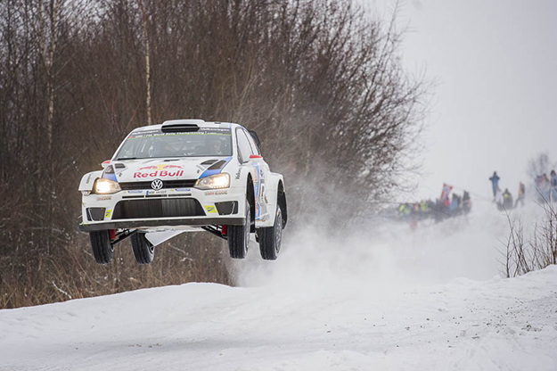 Photo: Stefan Brending / Wikimedia Commons Mikkelsen's team's car in the 2014 Rally Sweden. They placed second last year.