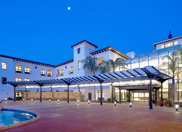Photo: cottagehealthsystem.org Cottage Hospital Santa Barbara has an ambiance of wellness, which hopefully is indicative of the future of health care.