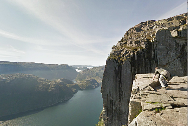 Photo: Google Maps The view from Pulpit Rock, according to Google Maps.