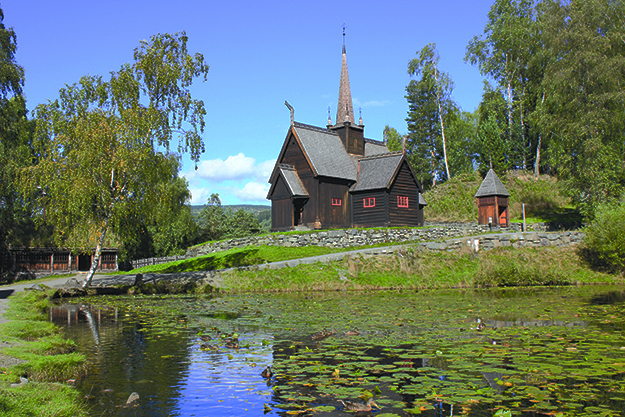 Photos: (above) Øyvind Holmstad / Wikimedia Commons The stave church (Garmo stave church) at Maihaugen country museum in Lillehammer, Norway.