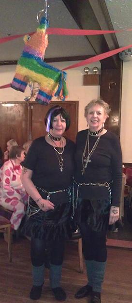 Photo: Ellen Lindstrom Lisa Martinsen and Sylvia Reich make an adorable pair of goth-punks.