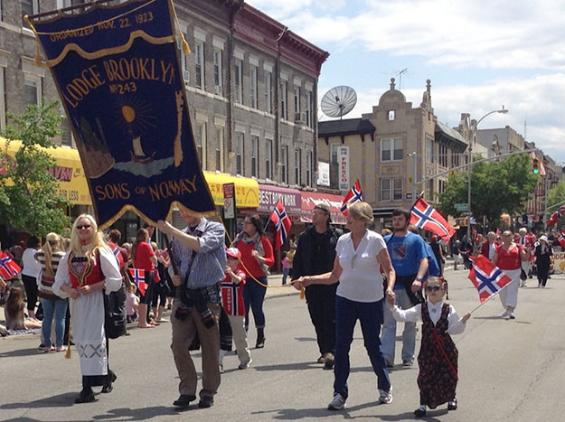 Photo: Ester Hall The Sons of Norway Brooklyn Lodge celebrates Syttende Mai in 2014.