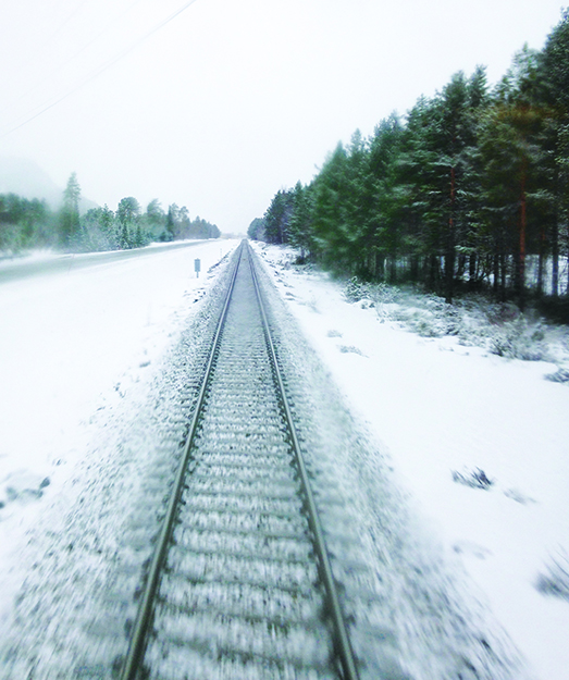 Photo: Mary Lokken View of the Nordland Line train tracks.