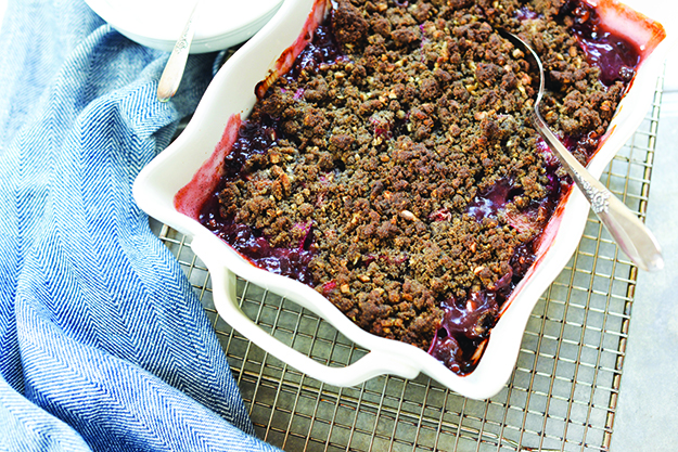 Photo: Daytona Strong Rhubarb and buckwheat are related, making them a natural pairing in this comforting spring dessert.