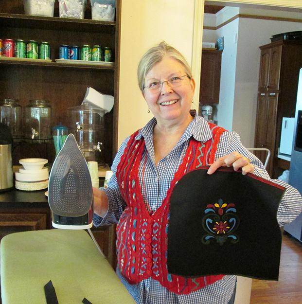 Photo: Christine Foster Meloni Doris Goodlett made a purse to match her festdrakt with Deb's help.