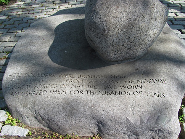"Photo: Lois Berseth Hedlund ""The stone"" is a fittingly simple memorial to Norwegian sailors."