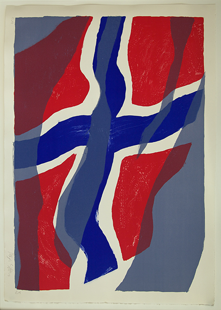 Photo courtesy of Trond B. Olsen, exhibit curator n Motion, a lithography by Inger Sitter, a one-time young rebel who became a pioneer of Norwegian abstract in the post World War II years.