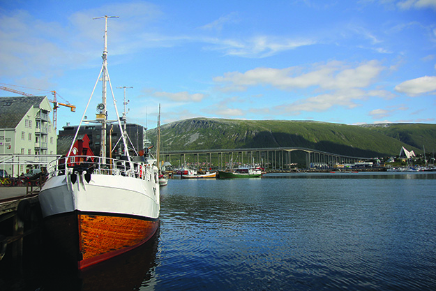 Photo: Morten Knutsen / Flickr Most of the time, Vulkana is moored in Tromsø in front of the Polar Museum, from where it takes day tours.
