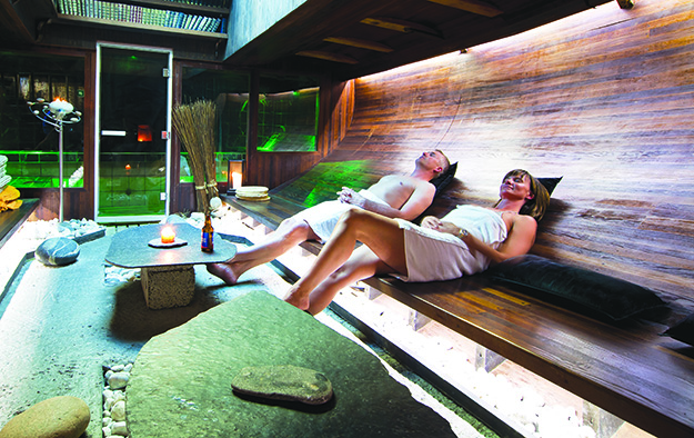 Photo: C H / Visitnorway.com  Once a fishing boat, Vulkana now contains a luxurious spa with saunas and pools.