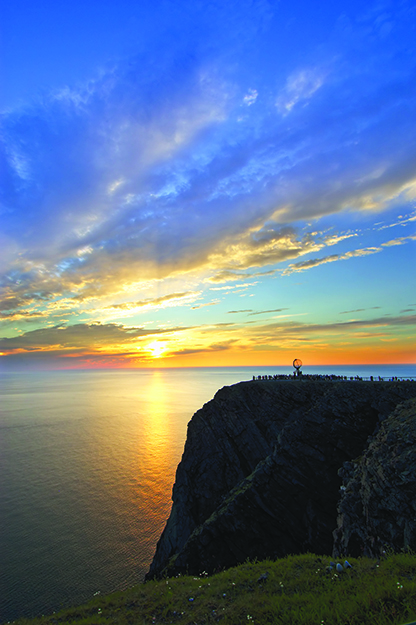 Photo: Bjarne Riesto / Visitnorway.com You can hike the 4,375 miles from Nordkapp (pictured here), the northernmost point in Europe, to Salerno, Italy, along the ERA's E1 route.