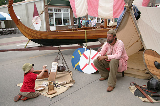 Photo courtesy of Winneshiek County Convention & Visitors Bureau Nordic Fest offers a cornucopia of Vikings and all things Nordic.