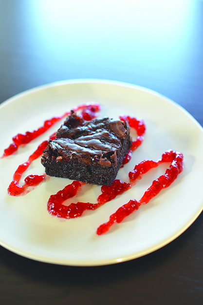 Photo: Daytona Strong Sweet-tart lingonberry adds complexity to these delicious brownies.